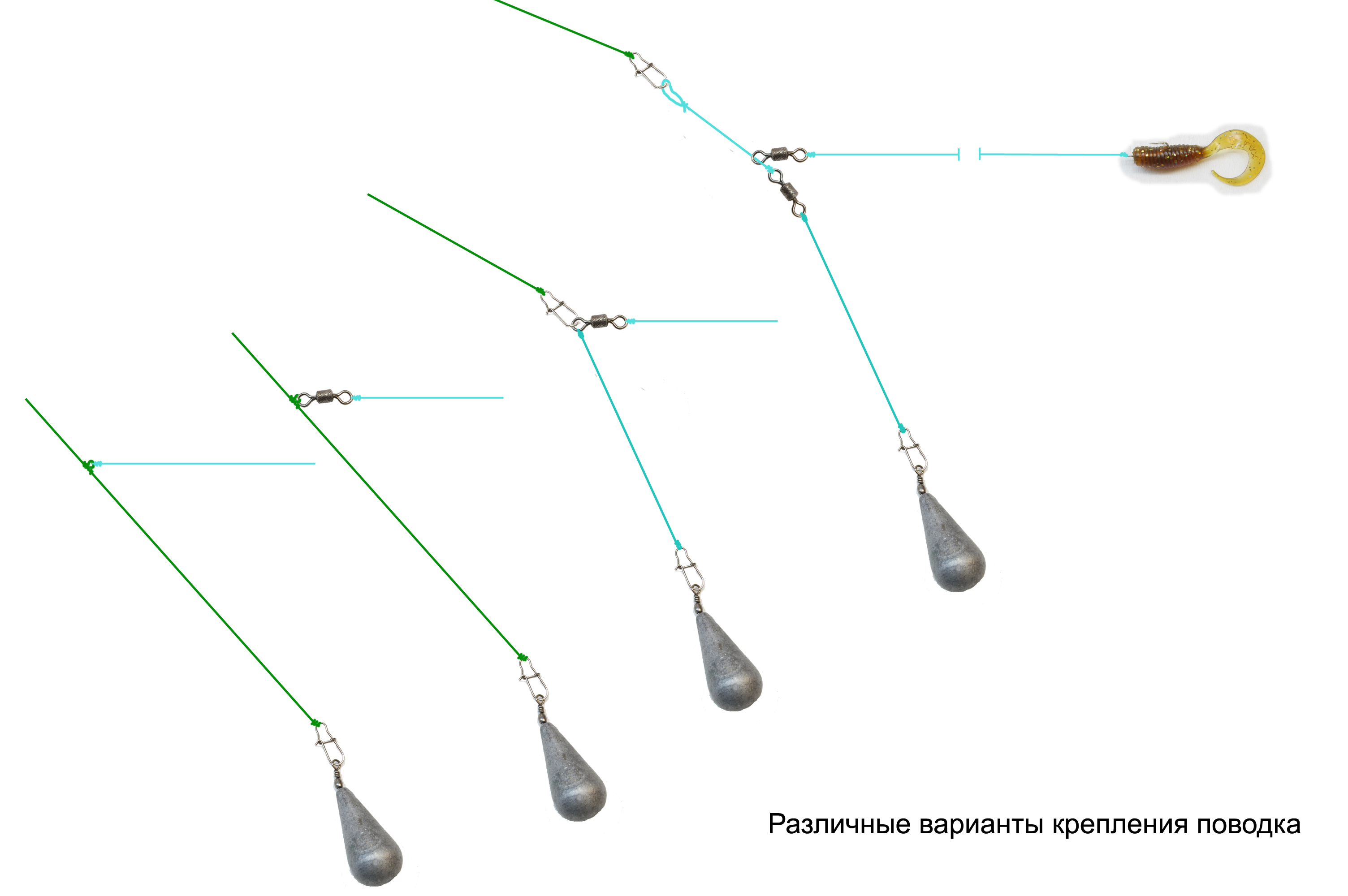 Методы монтажа отводного поводка на щуку