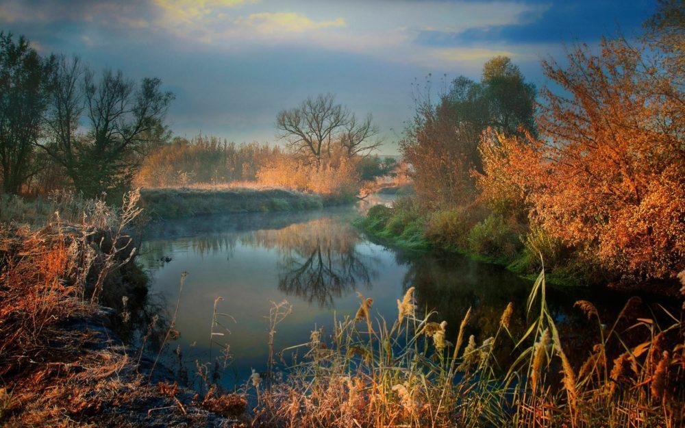 Октябрь и заморозки у воды