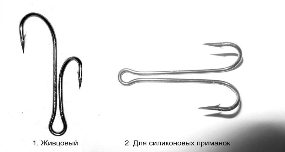 Двойные крючки на щуку