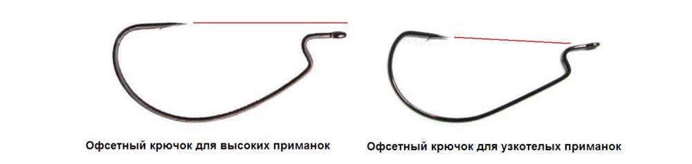 Офсетные крючки для силиконовых приманок