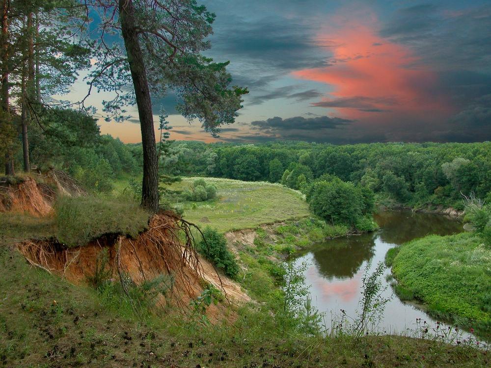 Обрывистые берега реки